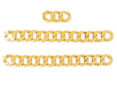 View 3. Thumbnail of Lot 2. VERDURA | GOLD 'CURB-LINK' NECKLACE-BRACELET COMBINATION.