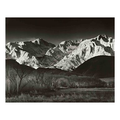 View 1. Thumbnail of Lot 46. 'Sierra Nevada, Winter, from the Owens Valley, California'.