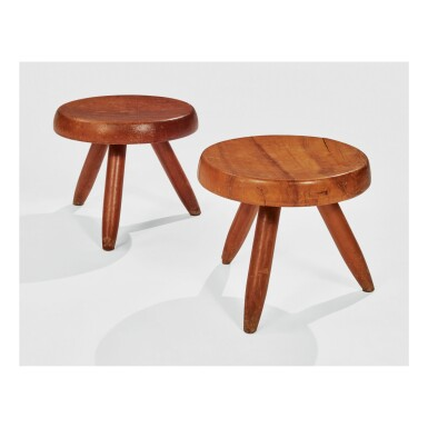 "CHARLOTTE PERRIAND | TWO ""BERGER"" STOOLS"
