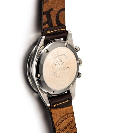 "View 3. Thumbnail of Lot 2124. OMEGA | SPEEDMASTER, REFERENCE 2998-61, A STAINLESS STEEL CHRONOGRAPH WRISTWATCH, CIRCA 1962 | 奧米茄 | ""Speedmaster 型號2998-61 精鋼計時腕錶,機芯編號18494116,約1962年製""."