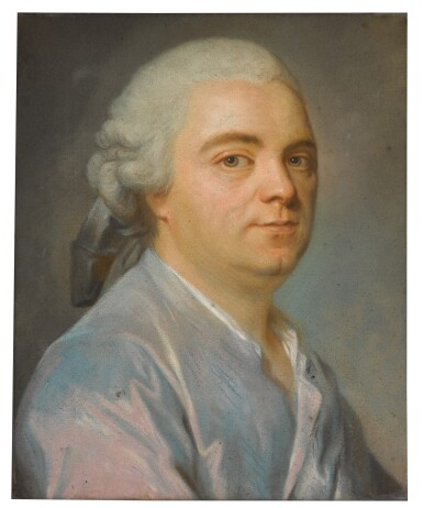 View 2. Thumbnail of Lot 70. Portrait of a Gentleman wearing a blue coat.