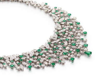 View 3. Thumbnail of Lot 1037. 'Rhythm' Emerald and Diamond Necklace | 格拉夫| 'Rhythm' 祖母綠 配 鑽石 項鏈 (祖母綠及鑽石共重約12.20及34.80克拉).