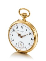 PATEK PHILIPPE | A YELLOW GOLD OPENFACE WATCH, MADE IN 1908