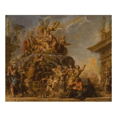JEAN-BERNARD RESTOUT | THE DEATH OF DIDO, A BOZZETTO