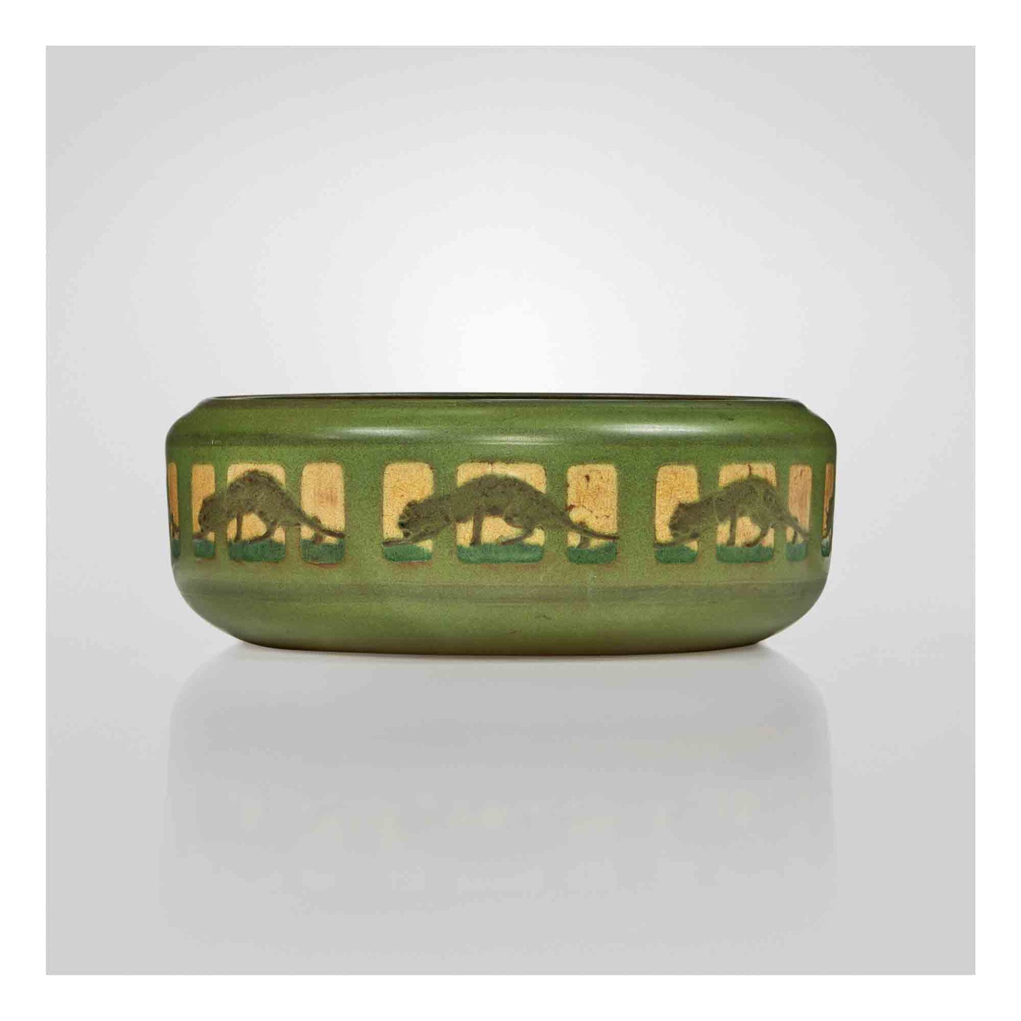 """View 1 of Lot 317. """"Panther"""" Bowl."""