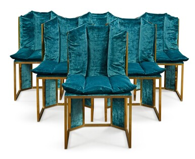 View 1. Thumbnail of Lot 193.  ITALIAN SCHOOL, 20TH CENTURY | SET OF 6 CHAIRS .