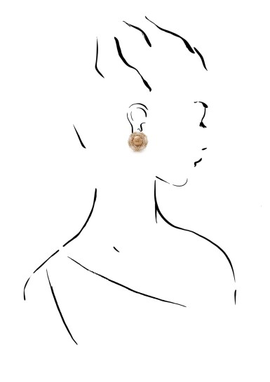 View 4. Thumbnail of Lot 4. MICHELE DELLA VALLE   PAIR OF CULTURED PEARL AND DIAMOND EARRINGS.