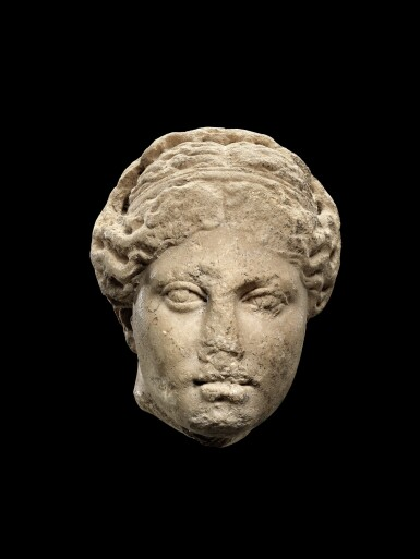 View 1. Thumbnail of Lot 31. A Roman Marble Head of Aphrodite, circa 2nd Century A.D..
