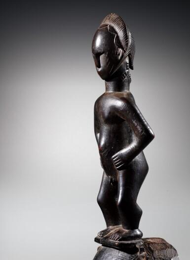 View 4. Thumbnail of Lot 31. Masque, Yauré, Côte d'Ivoire   Yaure mask, Côte d'Ivoire.