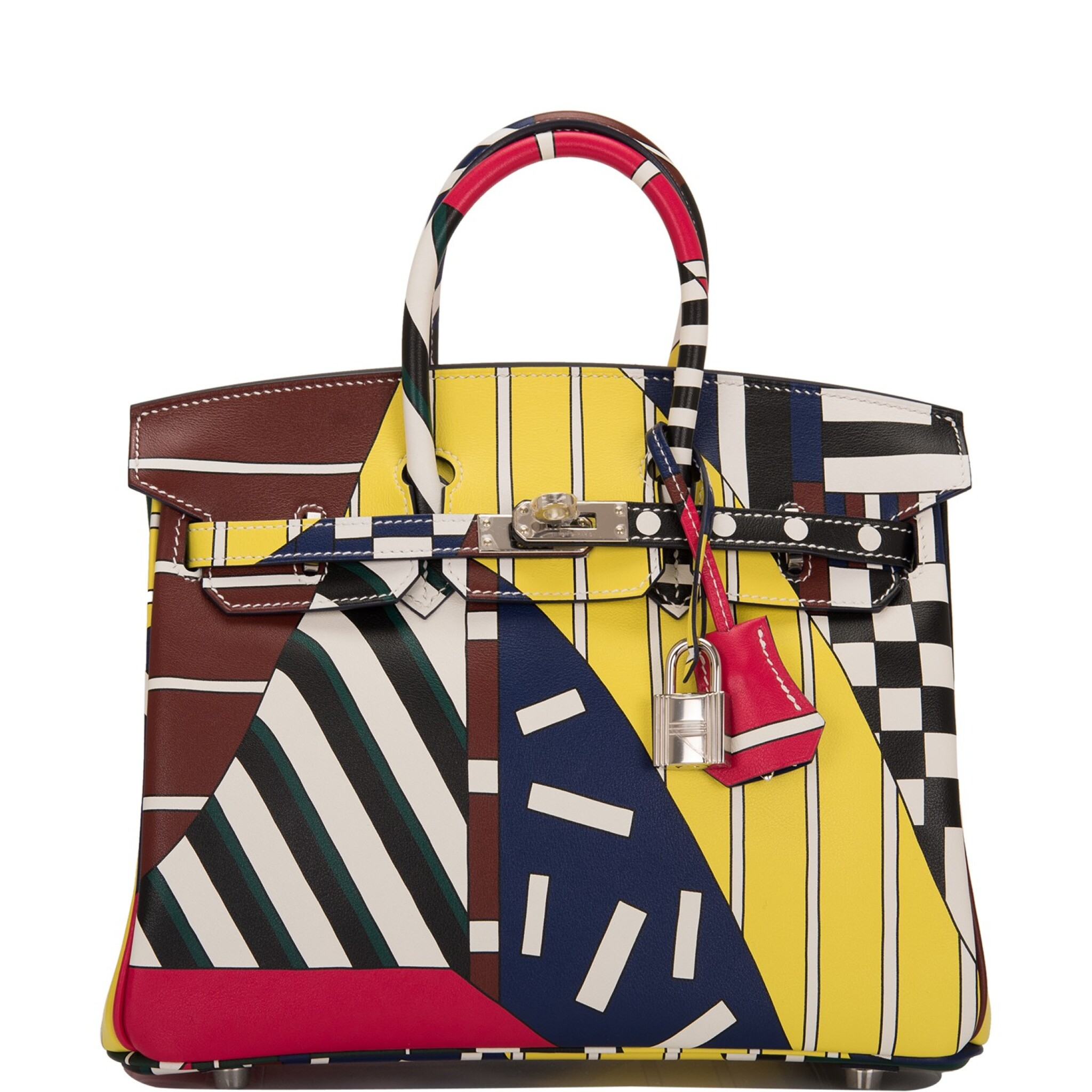 """View full screen - View 1 of Lot 3. Hermès """"One Two Three and Away We Go"""" Limited Edition Birkin 25cm Palladium Hardware."""
