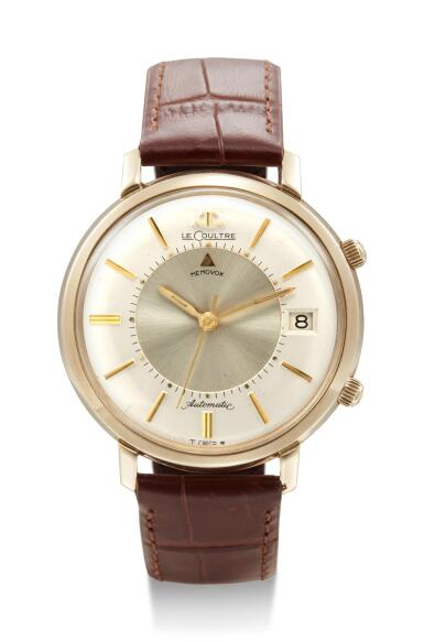 LECOULTRE | MEMOVOX, REFERENCE 1335,  A YELLOW GOLD WRISTWATCH WITH ALARM AND DATE, CIRCA 1967