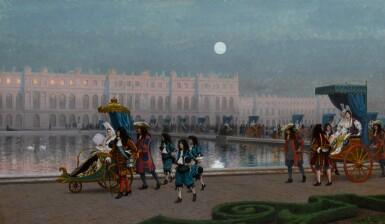 View 1. Thumbnail of Lot 217. Promenade de la Cour dans les jardins de Versailles.