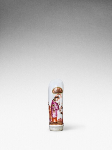 View 4. Thumbnail of Lot 88. A Meissen horn-shaped cane handle, Circa 1735.