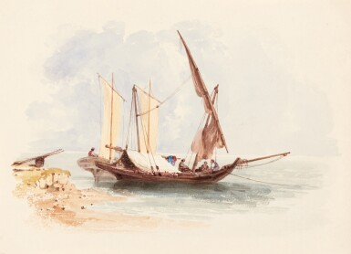 View 5. Thumbnail of Lot 119. William Page (1794-1872) | Album of 58 watercolours of Turkish, Greek, Swiss and Italian views and figure studies.