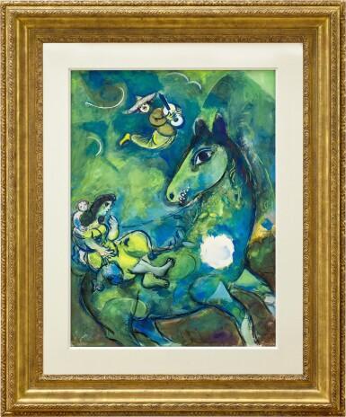 View 2. Thumbnail of Lot 1028. Marc Chagall 馬克・夏加爾   Le cheval à la lune 駿馬奔月.