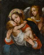 BERNARDINO CESARI | Madonna and Child with an angel