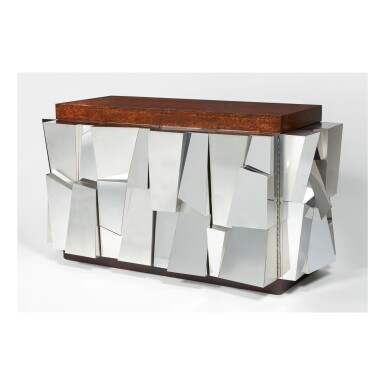 "PAUL EVANS | ""CITYSCAPE II"" FACETED CABINET, MODEL PE-354"