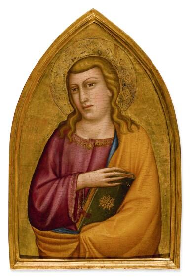 View 2. Thumbnail of Lot 4. SILVESTRO DEI GHERARDUCCI | SAINT JOHN THE EVANGELIST.