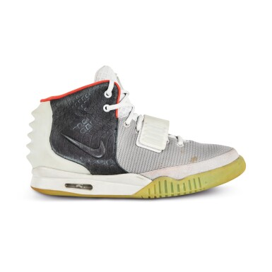 View 7. Thumbnail of Lot 38. Nike Air Yeezy 2 'Mismatch' Sample Signed by Kanye West | Size 12.