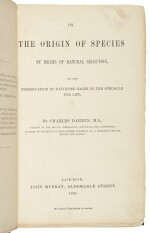 DARWIN, CHARLES   ON THE ORIGIN OF SPECIES....LONDON: JOHN MURRAY, 1859. FIRST EDITION, ERNST MAYR'S COPY