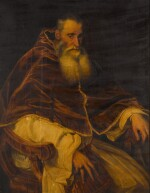 AFTER TIZIANO VECELLIO, CALLED TITIAN | PORTRAIT OF POPE PAUL III (1468-1549), THREE-QUARTER-LENGTH, SEATED