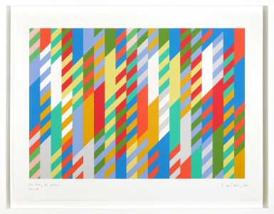 View 2. Thumbnail of Lot 210. BRIDGET RILEY | 1ST STUDY FOR PAINTING.