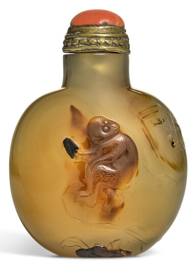 View 1. Thumbnail of Lot 283. A SUZHOU-STYLE AGATE SNUFF BOTTLE QING DYNASTY, 18TH/19TH CENTURY | 清十八/十九世紀 巧雕瑪瑙鼻煙壺.