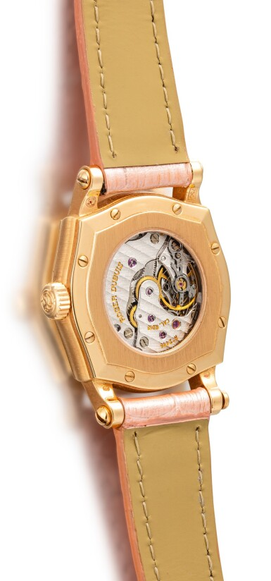 View 3. Thumbnail of Lot 613. ROGER DUBUIS  |  A PINK GOLD AND RUBY-SET WRISTWATCH, CIRCA 2000.