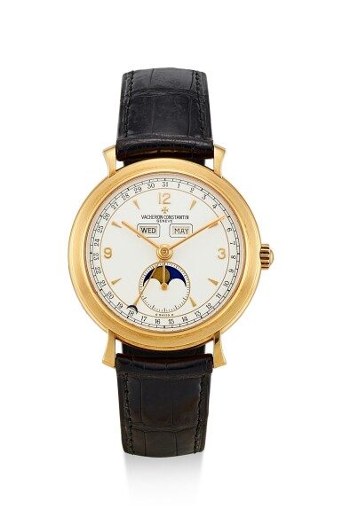 VACHERON CONSTANTIN | REFERENCE 37150, A YELLOW GOLD TRIPLE CALENDAR WRISTWATCH WITH MOON PHASES, CIRCA 1998