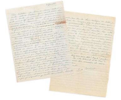 View 5. Thumbnail of Lot 120.  Importante correspondance à Violette Leduc dévoilant leur amitié littéraire. 297 lettres.
