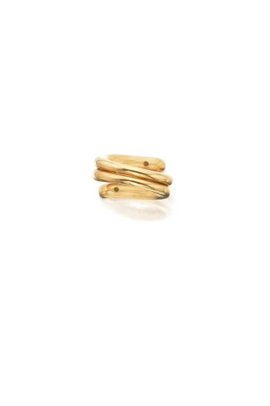 GOLD AND EMERALD 'DOUBLE COIL' RING, SCHLUMBERGER FOR TIFFANY & CO.