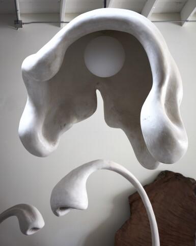 View 1. Thumbnail of Lot 14. Fertility Form illuminated sculpture.