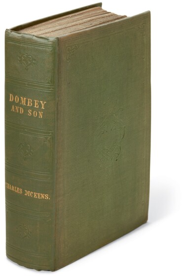 Dickens, Dombey and Son, 1848, first edition in book form, variant cloth binding