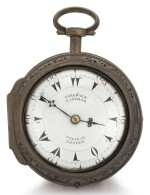 MARKWICK MARKHAM PERIGAL, LONDON | A LARGE SILVER PAIR CASED QUARTER REPEATING CLOCK WATCH MADE FOR THE TURKISH MARKET   CIRCA 1790