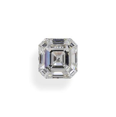 A 4.05 Carat Square Emerald-Cut Diamond, G Color, Internally Flawless