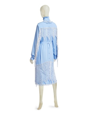 View 4. Thumbnail of Lot 23. PRADA | BEADED FRINGE EMBROIDERY DRESS,  ONE OF A KIND, NOT IN THE SHOW NEITHER IN THE STORES.