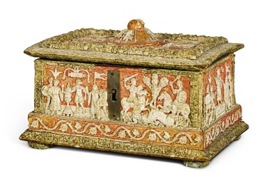 View 1. Thumbnail of Lot 723. Casket with classical subjects.