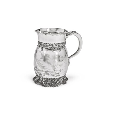 AN AMERICAN SILVER YACHTING PITCHER, TIFFANY & CO., NEW YORK, CIRCA 1892