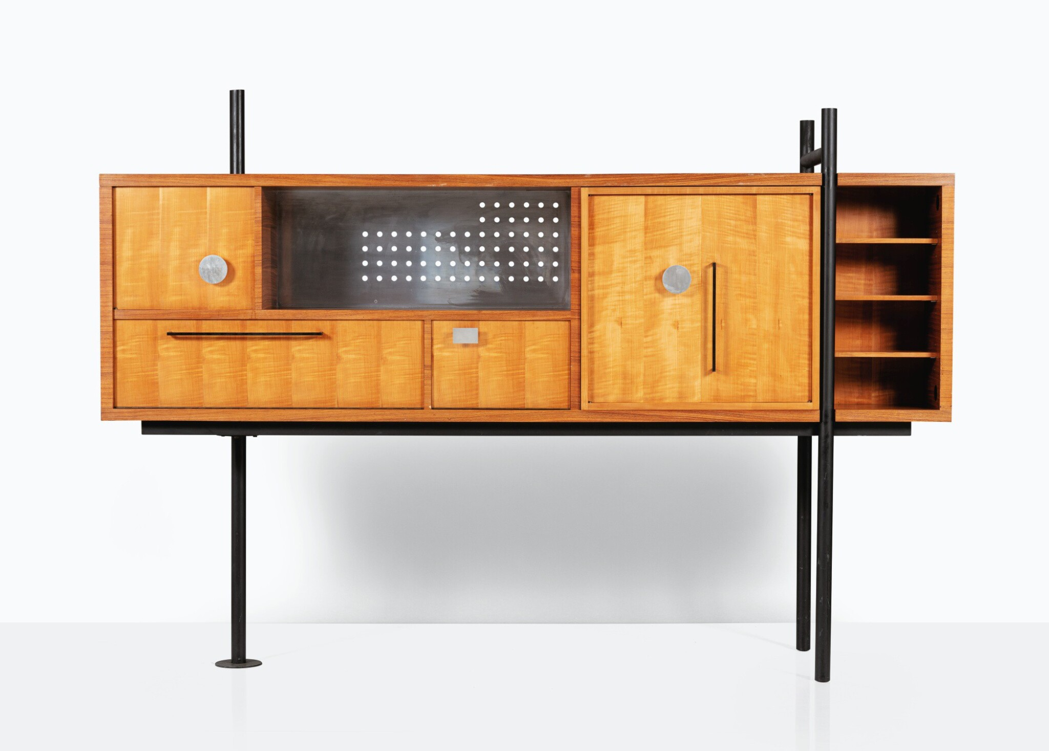 View full screen - View 1 of Lot 110. MAXIME DESCOMBIN   DOUBLE SIDED SIDEBOARD LE PIVOTANT  [MEUBLE DOUBLE FACE DIT LE PIVOTANT].