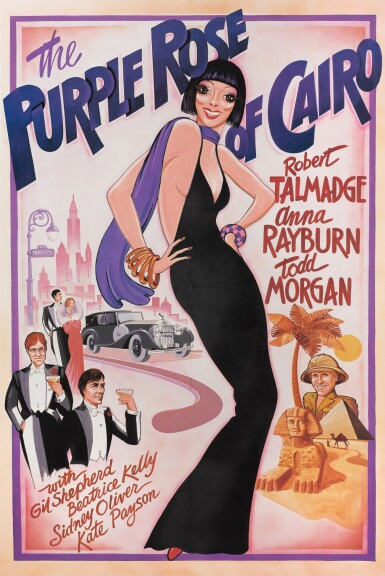 THE PURPLE ROSE OF CAIRO (1985) PROP POSTER, US