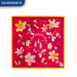 PATEK PHILIPPE | A PAIR OF LIMITED EDITION SCARVES WITH FLORAL MOTIFS