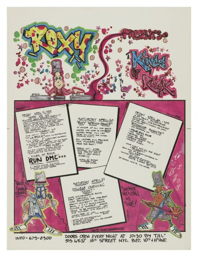 """KANO   """"THE KINGS OF ROCK"""" VINTAGE ROXY POSTER, WITH ARTWORK BY KANO, 1985"""