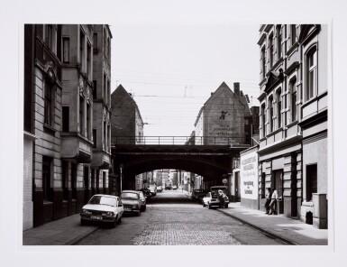 View 8. Thumbnail of Lot 36. 'Clinton Road', Murdock Cottages, London, 1977; 'Panorama 2', Beaugrenelle, Paris, 1979; 'Gereonswall', Koln, 1980; 'Calle Tintoretto', Venezia, 1990.
