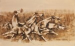MAQBOOL FIDA HUSAIN | Untitled (Horses)