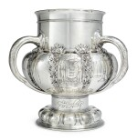 Of New Jersey Interest: A Large American Silver Three-Handled Presentation Cup, Tiffany & Co., New York, 1890-91