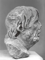 A ROMAN MARBLE HEAD OF A GREEK POET, PROBABLY HESIOD, CIRCA 1ST CENTURY A.D.