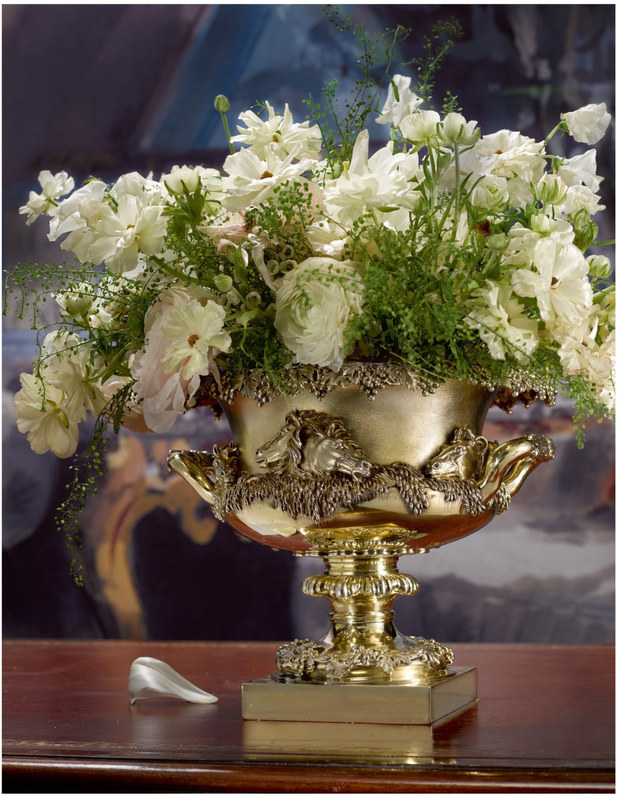 View full screen - View 1 of Lot 12. A WILLIAM IV SILVER-GILT WARWICK STYLE BOWL, PAUL STORR FOR STORR & MORTIMER, LONDON, 1830.