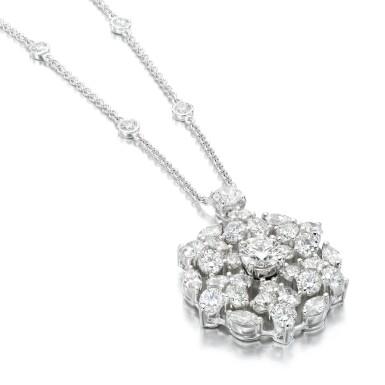 View 1. Thumbnail of Lot 83. Graff | Diamond necklace, 'Snowflake'.