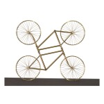 AI WEIWEI | FOREVER DUO (STAINLESS STEEL BICYCLES IN GILDING)