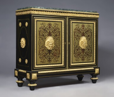 View 2. Thumbnail of Lot 779. A GILT BRONZE-MOUNTED BOULLE MARQUETRY AND EBONY MEUBLE D'APPUI STAMPED E. LEVASSEUR , LATE 18TH/EARLY 19TH CENTURY.